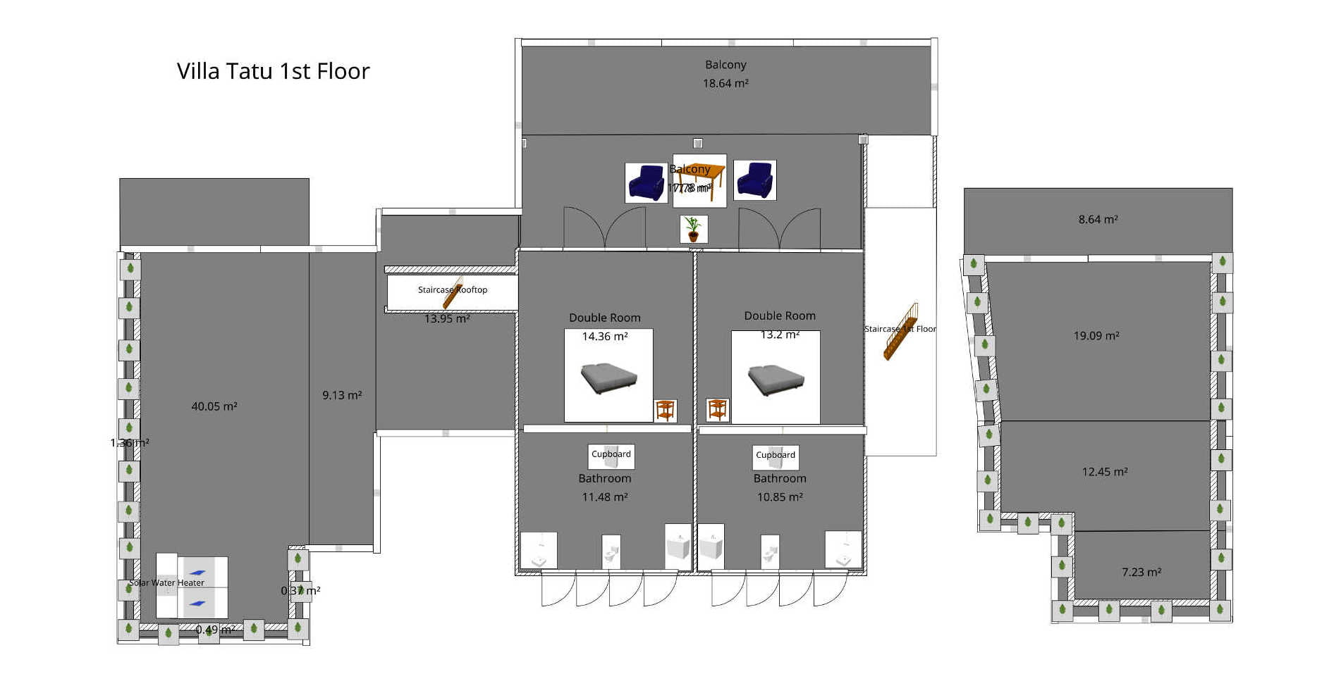 Floor Plan Villa Tatu 1st Floor